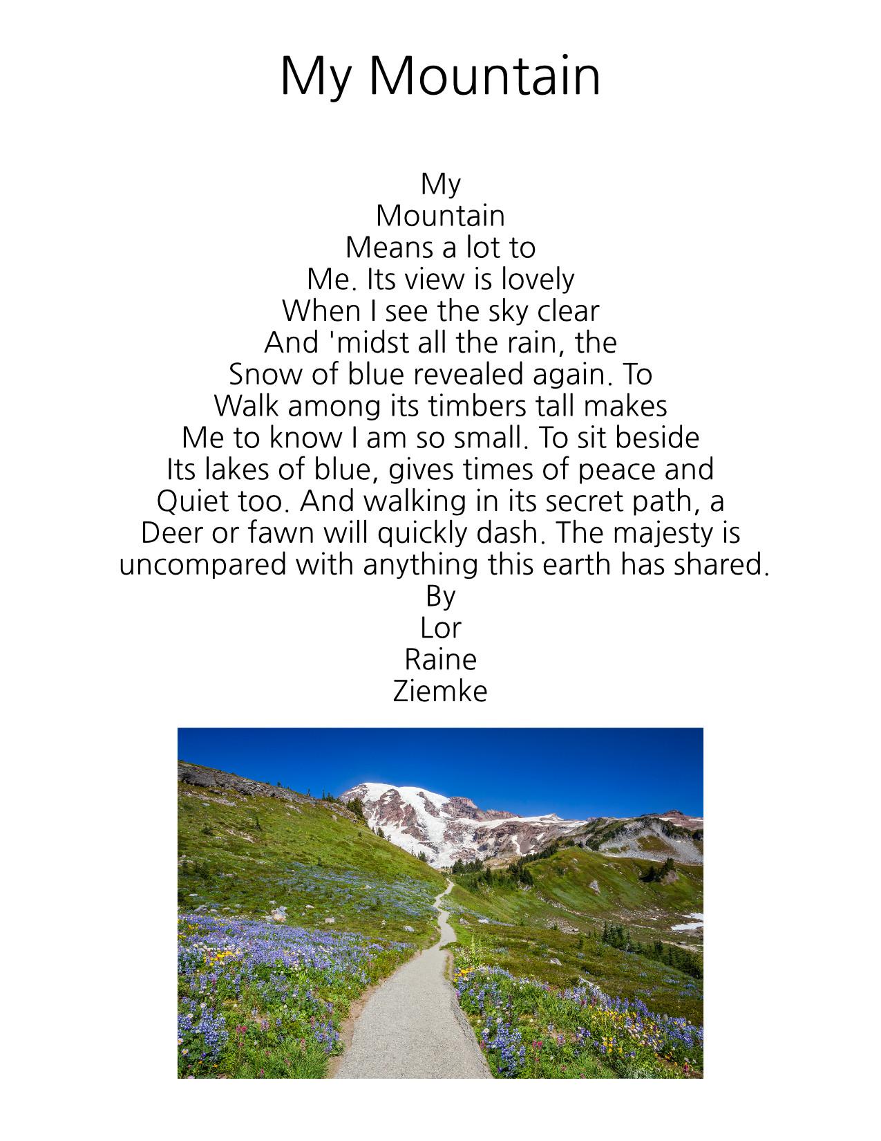 My Mountain by Lorraine Ziemke